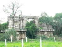 Remains of the Venkateswara Temple built by Thiruvenkata Nathudu in 1542 and destroyed by Hyder Ali in 1782.