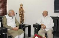 Gujarat Chief Minister Narendra Modi with Bangladesh High Commissioner Tariq A. Karim