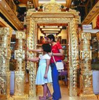 Gold-covering in the Guruvayur Sri Krishna Temple