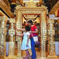 Gold-covering in the Guruvayur Sri Krishna Temple