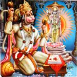 Hanuman singing bhajans.
