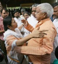 Lalu Prasad Yadav & Mamata Banerjee
