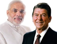 Narendra Modi & Ronald Reagan