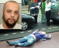 Mohammed Bouyeri (insert) and Dutch victim Theo van Gogh