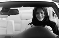 Saudi woman driving her own car!