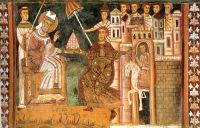 Pope Sylvester & Emperor Constantine: In fact Constantine carried the title of Pontifex Maximus, not Sylvester who was mere Bishop of Rome.