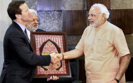US House of Representatives and business leaders meet Modi in Ahmedabad.
