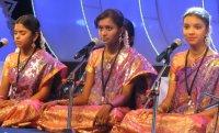 Girls singing bhajans in Chennai.
