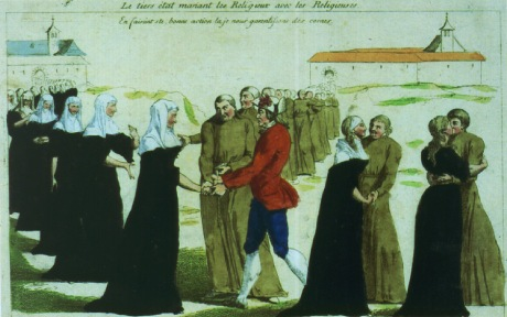 Priests and nuns being married during the French Revolution.