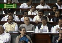 Sonia Gandhi in Parliment