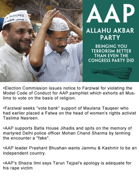 Kejriwal's AAP: Allahu Akbar Party