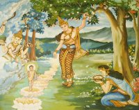 Birth of Siddhartha Gautama at Lumbini