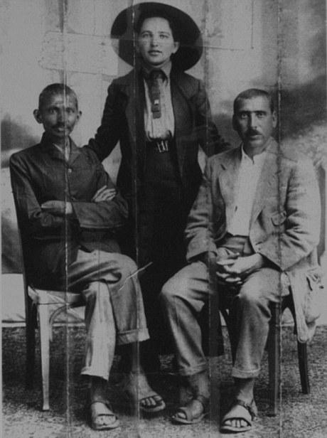 M.K. Gandhi (L) & Hermann Kallenbach (R)