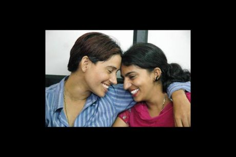 Indian Lesbian Couple Baljit Kaur,21 ,(L) and Rajwinder Kaur 20,(R) answer questions from media representatives in Amritsar, 19 June 2007, during a press meeting following their marriage on 14 June 2007. Across India gay and lesbian couples are increasingly coming out into the open about their sexuality and same sex marriages are becoming more common place. (AFP/Getty Images)