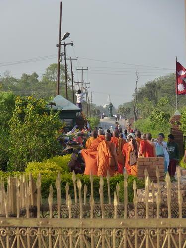 Lumbini street scene.