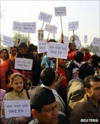 Nepali Christian converts demanding cemetary land belonging to the Pashupati Shiva Temple, Kathmandu