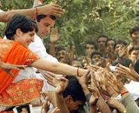 Rahul & Priyanka campaigning in Sultanpur, UP