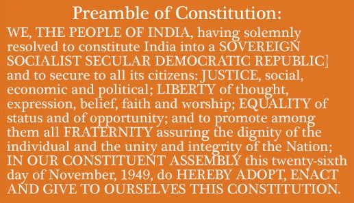 Poster on Indian Constitution to The Indian Constitution