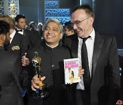 Vikas Swarup & Danny Boyle at the Oscars