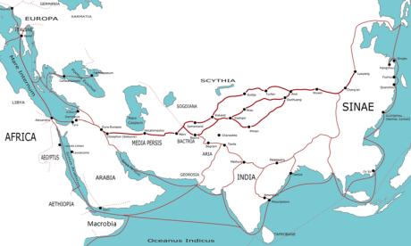 Transasia trade routes 1st century CE