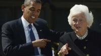 President Obama & Barbara Bush