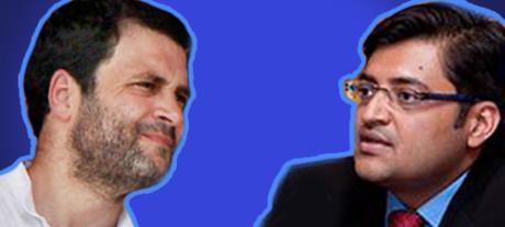 Rahul Gandhi & Arnab Goswami