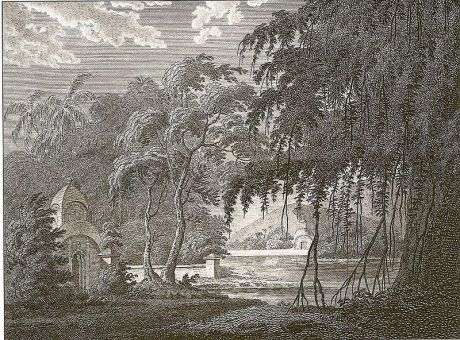Chandod Sacred Grove. Drawing by  James Forbes, Bombay 1782
