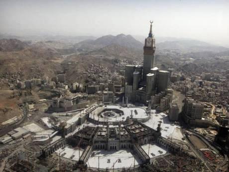 Grand Mosque (center), Mecca