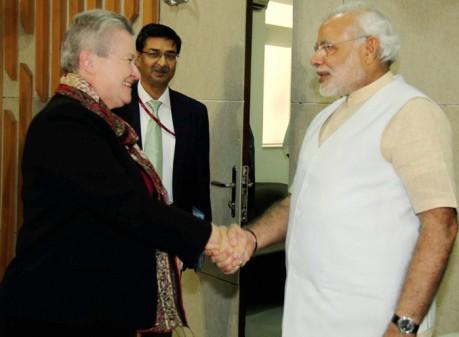 Narendra Modi & Nancy Powell