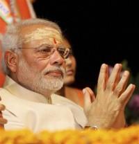 Narendra Modi greets Ganga Devi