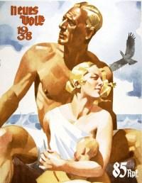 Nazi propaganda poster of a pure Aryan family (1938)