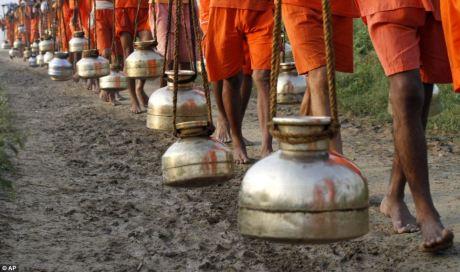 Pots of Ganga Jal