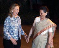 Hillary Clinton & Sonia Gandhi