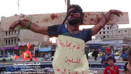 ISIS crucifixion in Raqqa, Syria