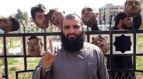 Syrian soldier's heads by ISIS