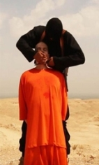 James Foley being decapitated by ISIS