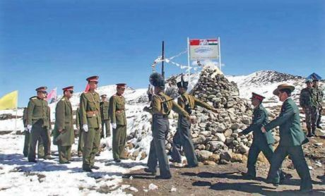India and China at LAC in Ladakh