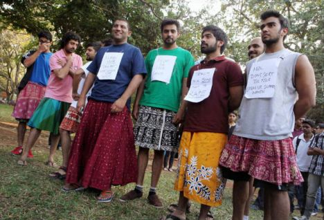 Protesting rape in Bangalore