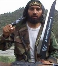 Jihadi with beheading knife