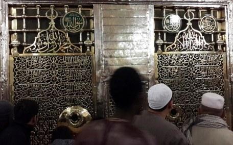 Tomb of Prophet Mohammad at Al-Masjid al-Nabawi in Medina