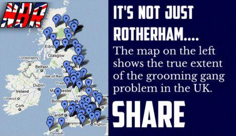 Location of Muslim sex grooming gangs in UK