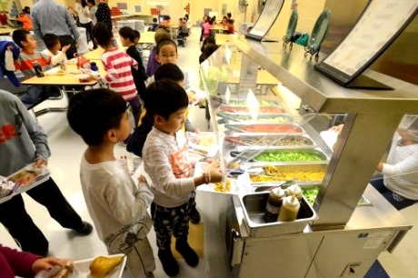 PS 244 in Queens, NY is reporting better student test scores and lower obesity rates six month after implementing a vegetarian-only lunch menu.