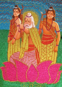 Valmiki with Kusa and Lava