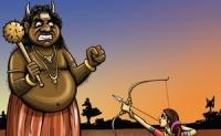 Satyabhama kills Narakasura
