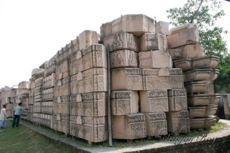 Carved stones for the new Ram Temple at Ayodhya