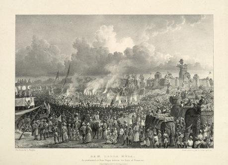 Ram Leela as performed at Ram Nagar before the Raja of Benares in 1834