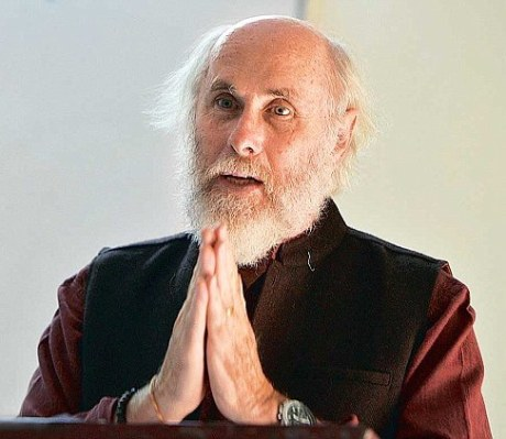 David Frawley (Vamadeva Shastri ) during Lecture of  'Aryan Theory in The Light of Textual Evidences', Department of Sanskrit at North Campus in Delhi University in New Delhi on Monday 24/11/2014