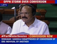 Naidu in Parliament: Govt will to pass an anti-conversion law. But the Opposition objects. Why? Because they are protecting their minority vote banks!