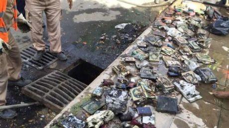 Koran copies in a Taif sewer!