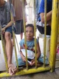 Street child in a Manila prison.